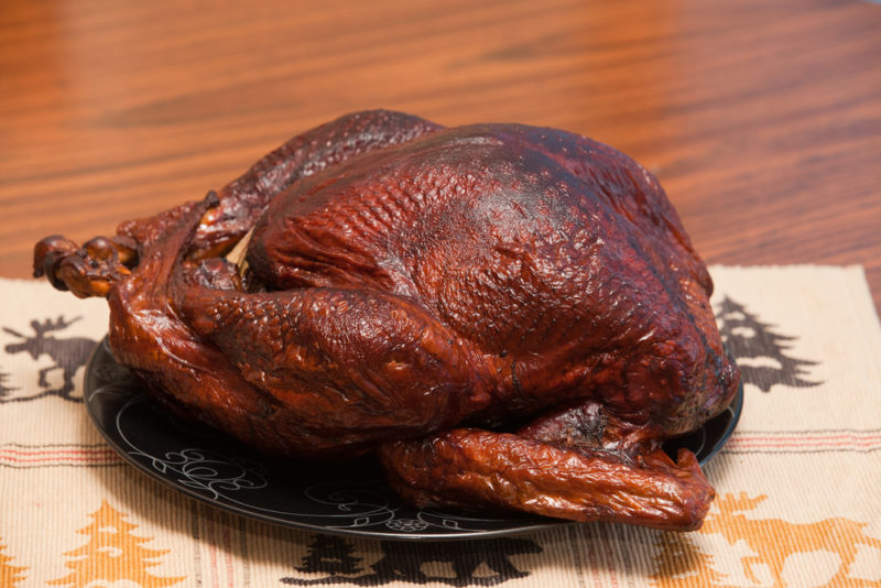 Whole-Smoked Turkey on the Hasty-Bake