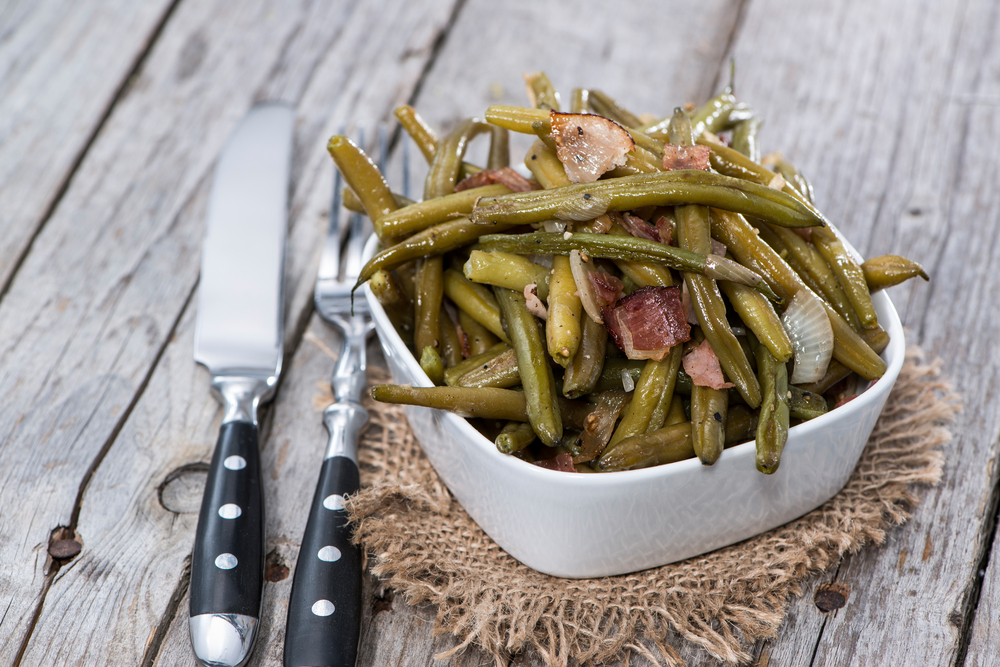 Apple Cider Prosciutto Green Beans